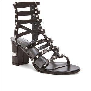 Euc Stuart Weitzman Rivet Cleo Sandals 9.5